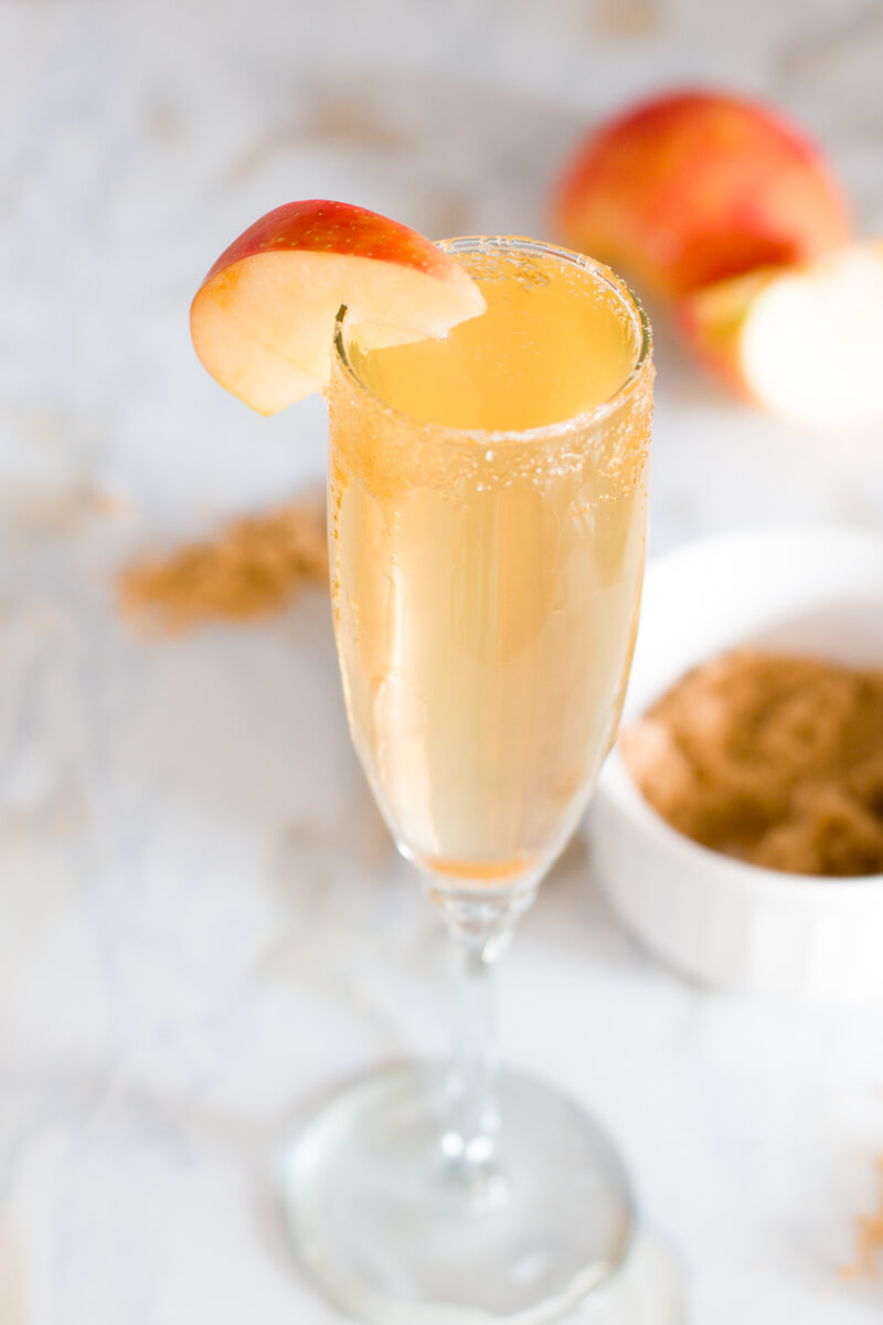 apple mimosa champagne cocktail
