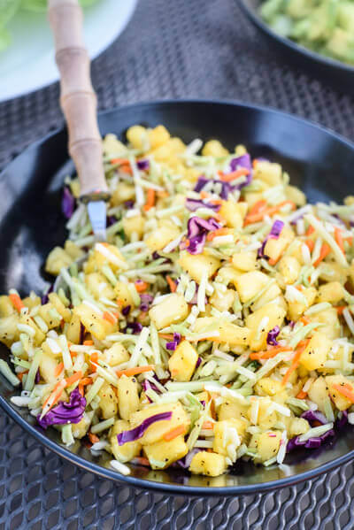 Asian Broccoli Slaw with Pineapple, 101 Stress Free Camping Food Ideas