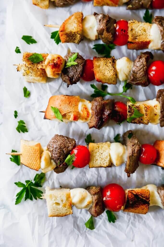 Beef Tenderloin Crostini Skewers, Beef Dinner Recipes