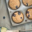 5 Minute Healthy Blueberry Muffins