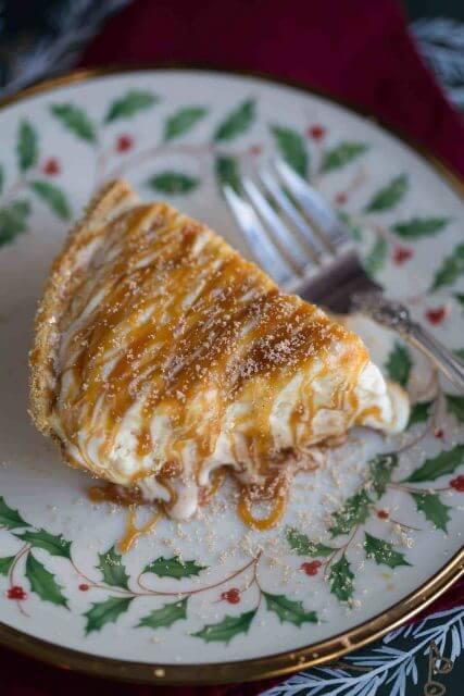 boozy caramel eggnog pie, 12 HOLIDAY PIES YOU'VE GOTTA MAKE THIS YEAR
