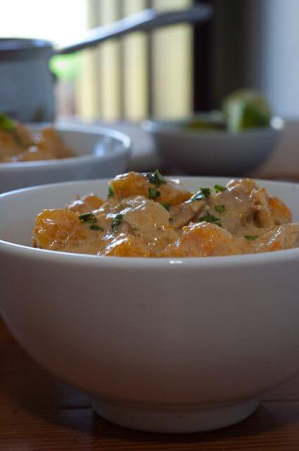 bowl of butternut squash curry