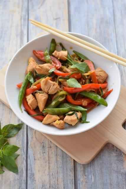 Chicken Thai Basil with Zucchini Noodles, Stir up Your Week with These 25 Amazing Stir Fry Recipes