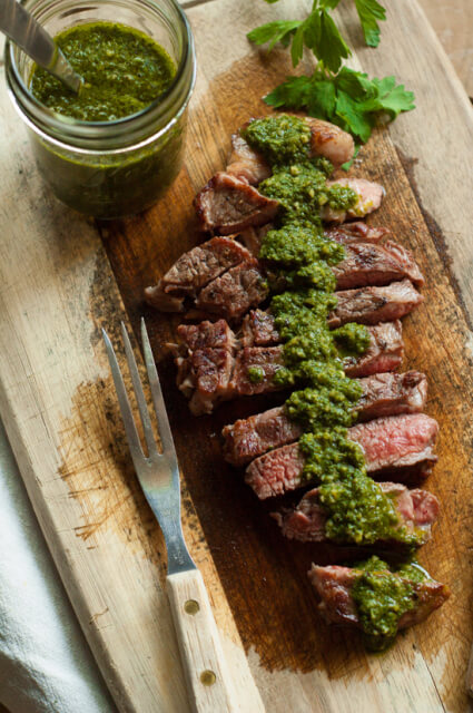 Chimichurri Sauce A traditional Argentinian sauce served with barbecued meats. Perfect stirred into soups, spread on grilled cheese or tossed with pasta.