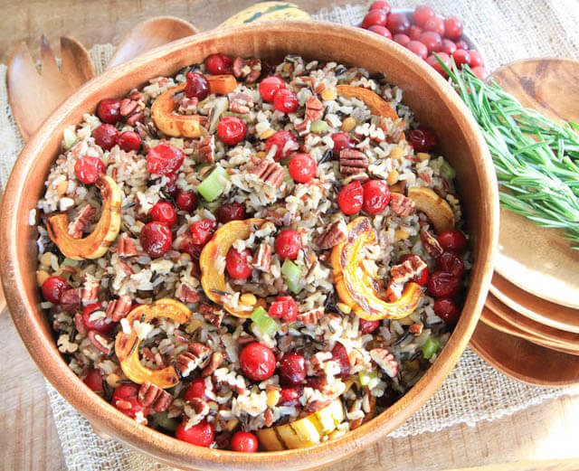 cranberry squash wild rice salad, cranberry recipes roundup