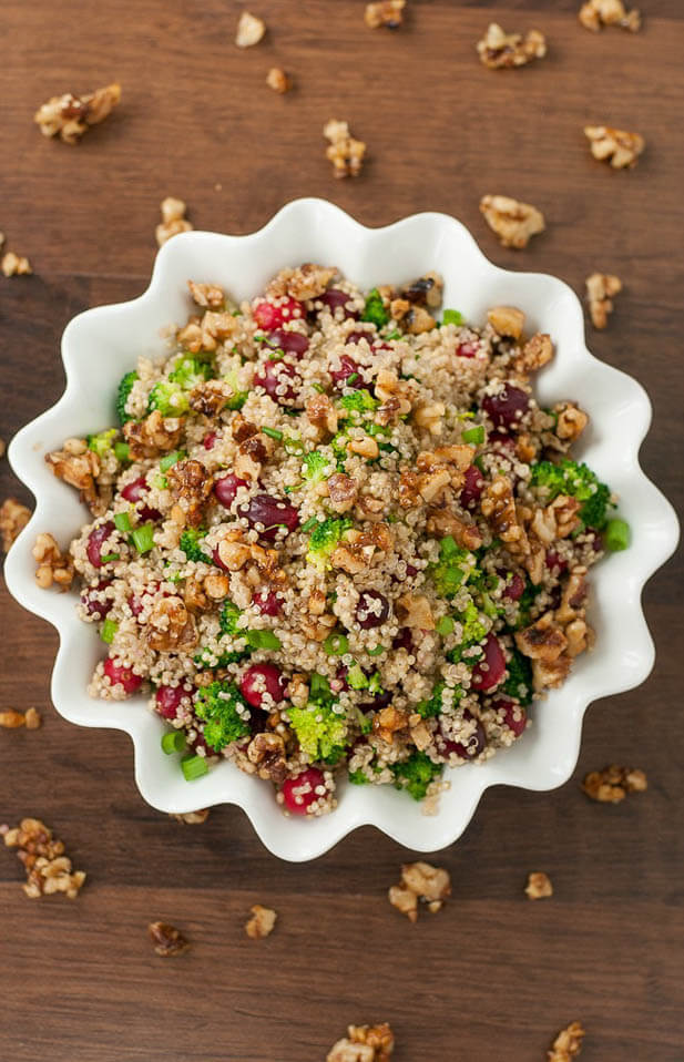 cranberry quinoa salad, cranberry recipe roundup