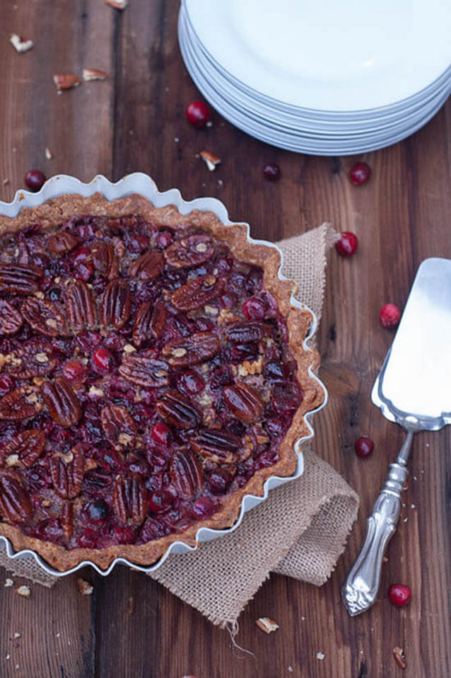 maple cranberry pecan pie, cranberry recipes roundup
