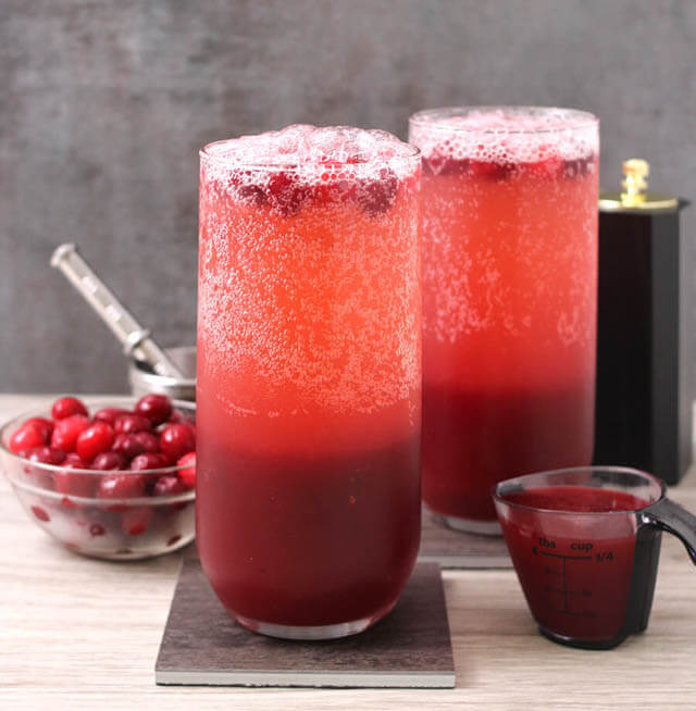 sparkling cranberry panak, cranberry recipes roundup