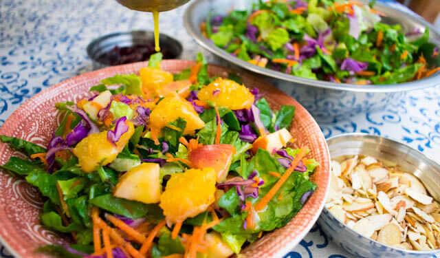 orange salad with apples and cranberries, cranberry recipe roundup