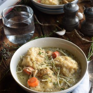 Creamy Turkey & Dumplings (With The Best Dumplings Ever)