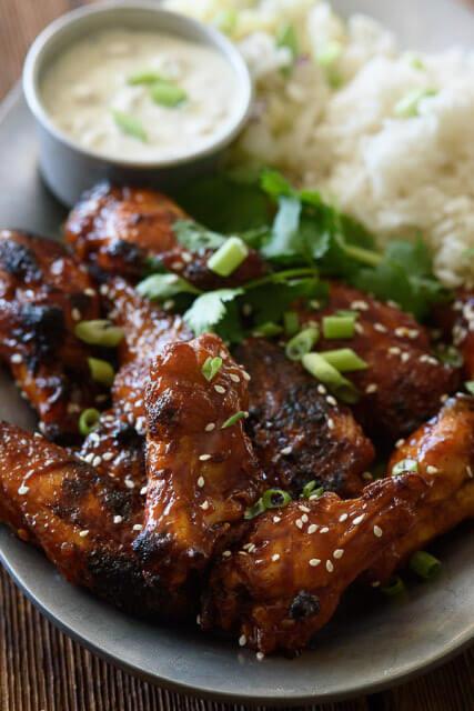 crispy-baked-chicken-wings-sticky-honey-garlic-sauce, romantic dinner recipes