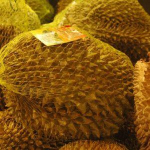 Durian tastes like…..