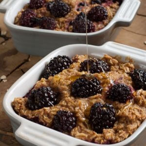 Healthy Blackberry Baked Oatmeal