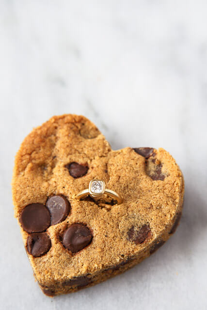engagement-ring-chocolate-chip-cookies, romantic dinner recipes