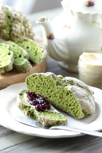 green-irish-soda-bread