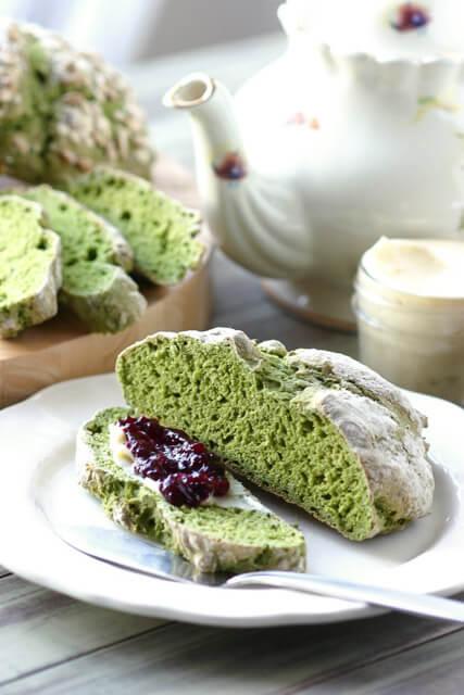green-irish-soda-bread