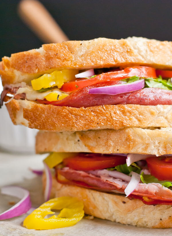 Grilled Italian Sandwiches, 101 Stress Free Camping Food Ideas