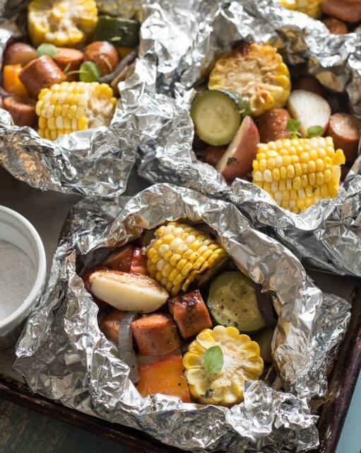 Grilled Sausage Foil Packets 101 Stress Free Camping Food Ideas