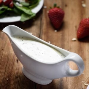 5 Ingredient Healthy Yogurt Poppy Seed Dressing (Video!)