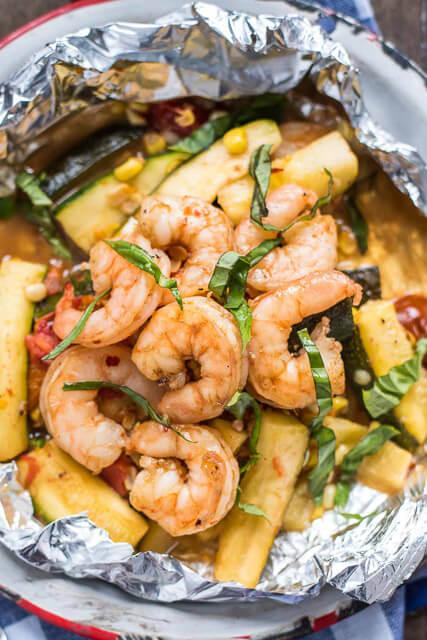 honey-garlic-shrimp-foil-packets