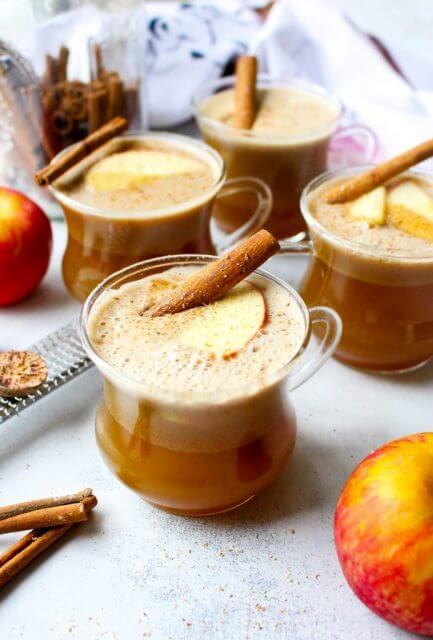 honey crisp apple hot buttered rum, 15 COCKTAILS TO KEEP YOU WARM THIS WINTER