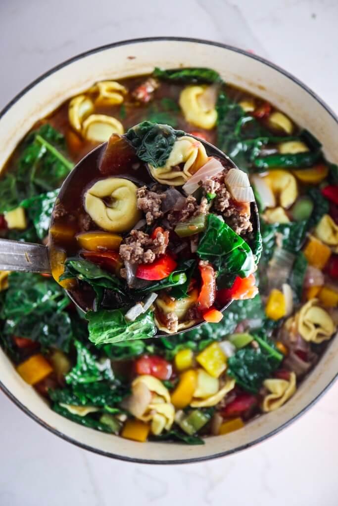 Italian Beef Pepper Tortellini Soup, Beef dinner recipes