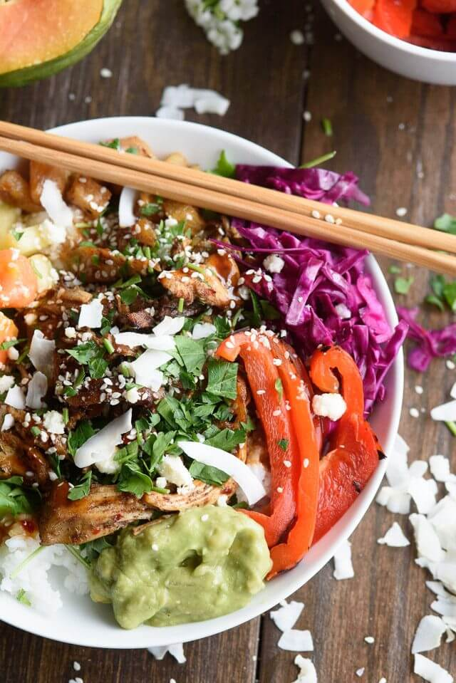 Tropical Jerk Chicken Rice Bowl