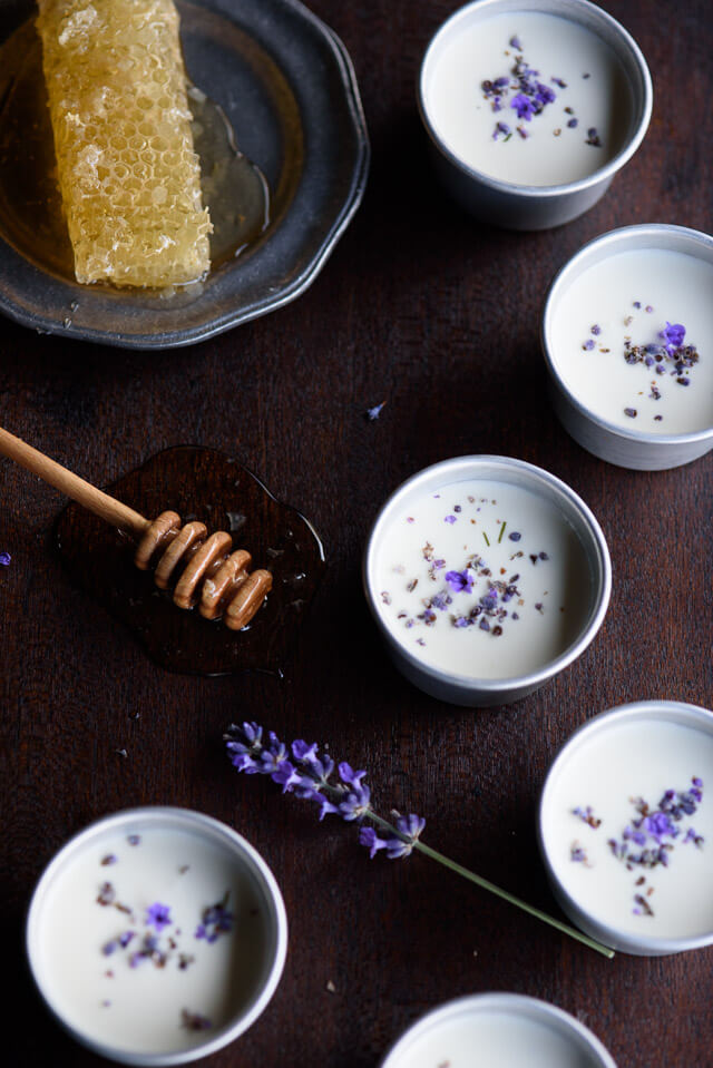 lavender-honey-possets