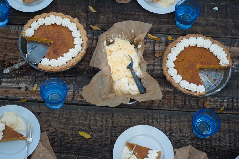 Maple Pumpkin Pie & Mascarpone Cream Cheese Ice Cream