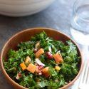 Massaged Kale Persimmon Salad