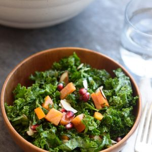 Massaged Kale Persimmon Salad