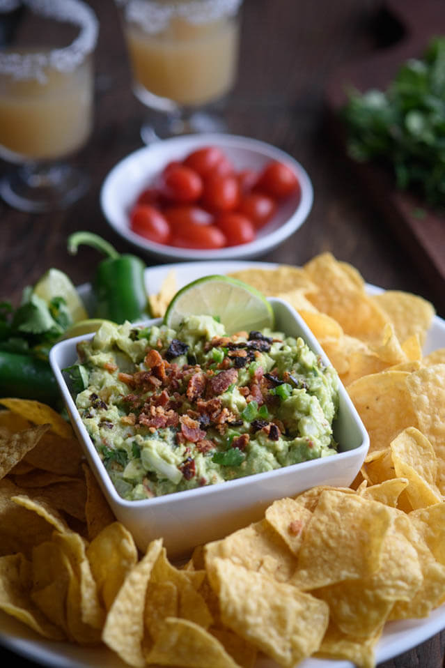 sun dried bacon guacamole recipe, party food ideas roundup