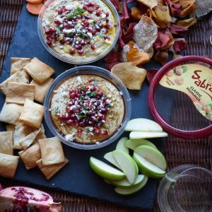 Pomegranate Molasses Preserved Lemon Hummus