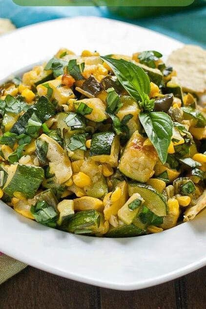 23. Roasted Corn and Zucchini Salsa