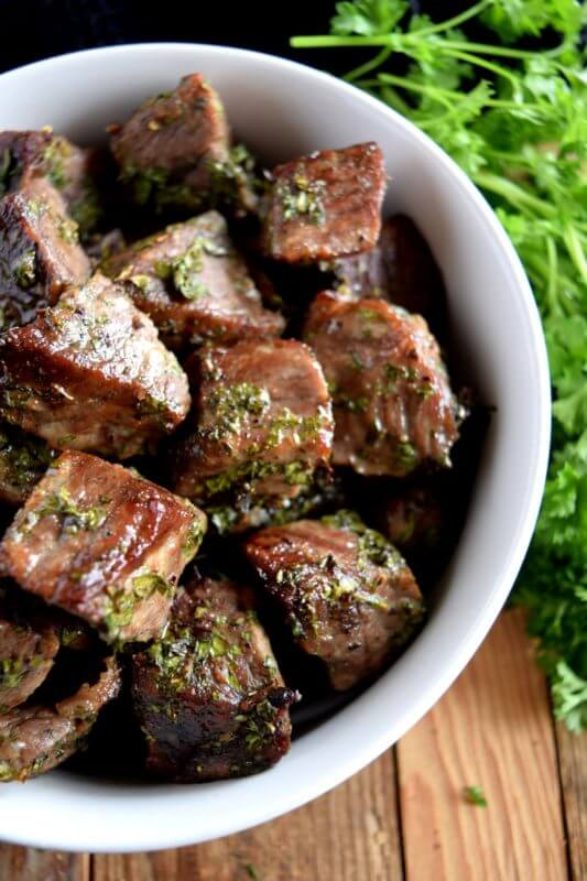 Roasted Herbed Beef Tips, beef recipes