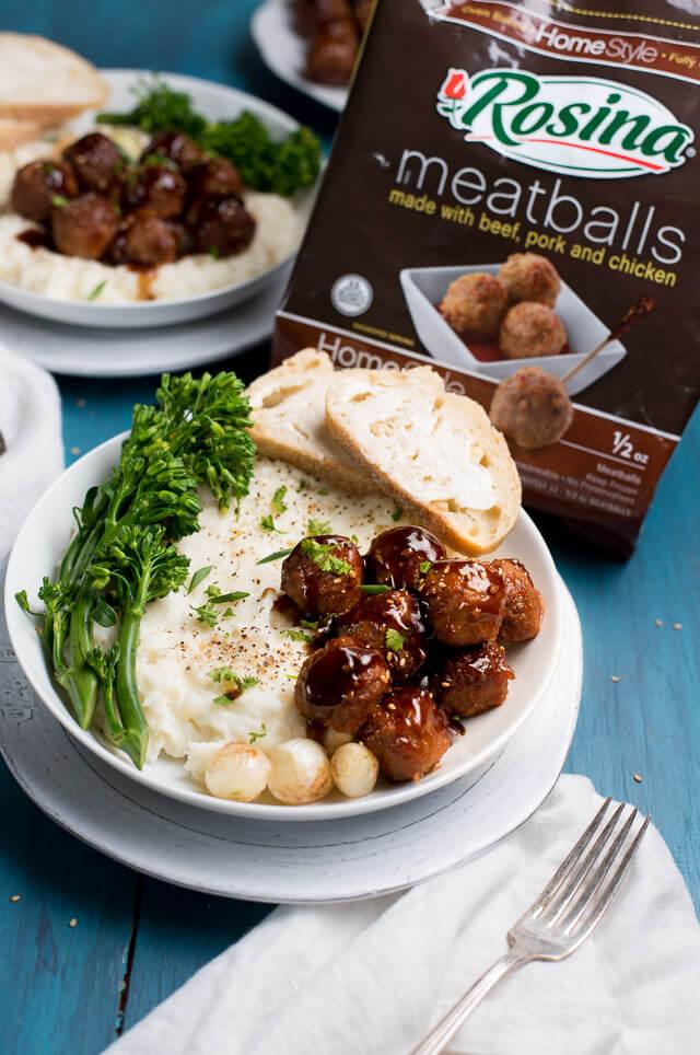slow cooker meatballs mashed potatoes