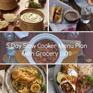 5 Day Slow Cooker Menu Plan (With Prep List & Shopping List!)