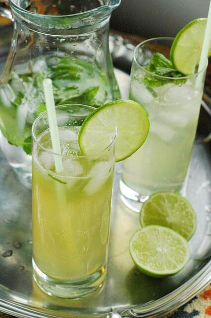 Spiced Honey Mojito: Honey simple syrup and spiced rum take this classic drink to a new level. |www.TheAdventureBite.com
