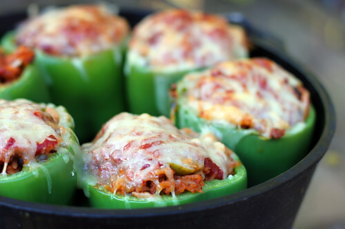 Dutch Oven Stuffed Peppers, 101 Stress Free Camping Food Ideas
