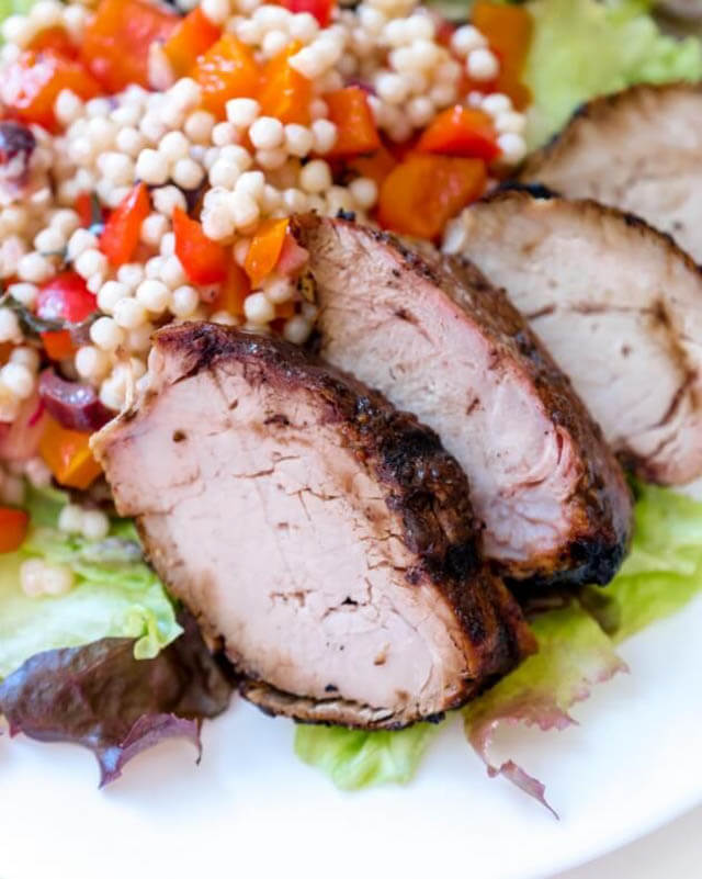 balsamic glazed pork tenderloin