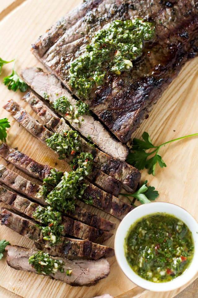 classic argentine chimichurri steak