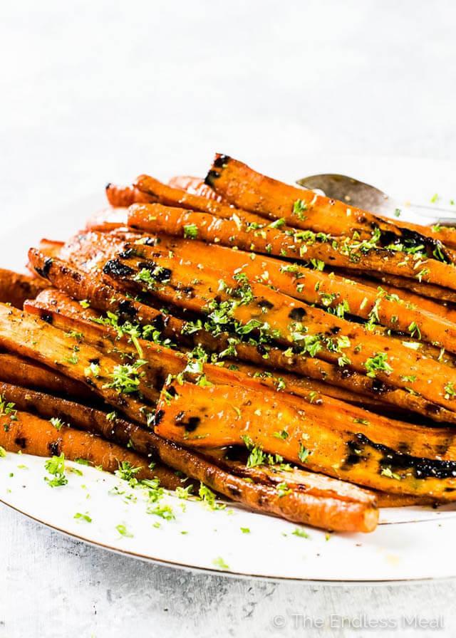 grilled maple dijon carrots