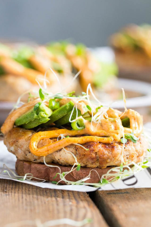 chipotle ranch chicken burgers