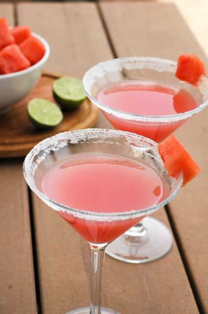 Watermelon Lime Cocktail: A perfectly refreshing bright easy cocktail recipe.