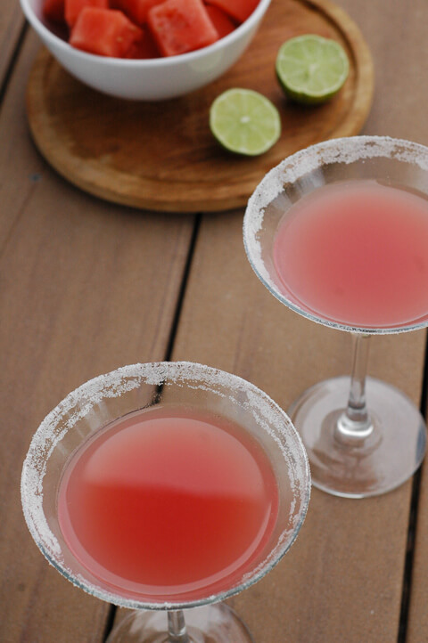 Watermelon Lime Cocktail: A perfectly refreshing easy summer drink. | www.TheAdventureBite.com