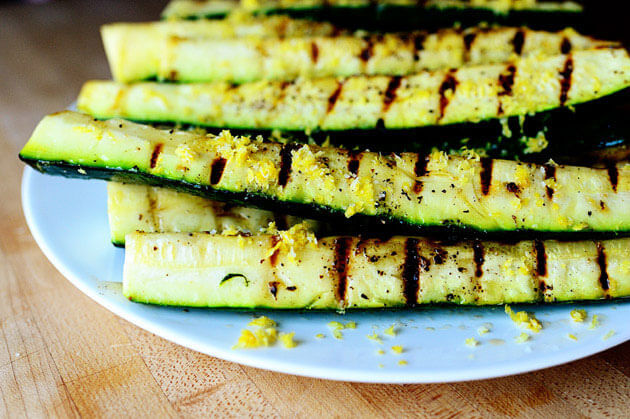 Grilled Zucchini with Yummy Lemon Salt,101 Stress Free Camping Food Ideas